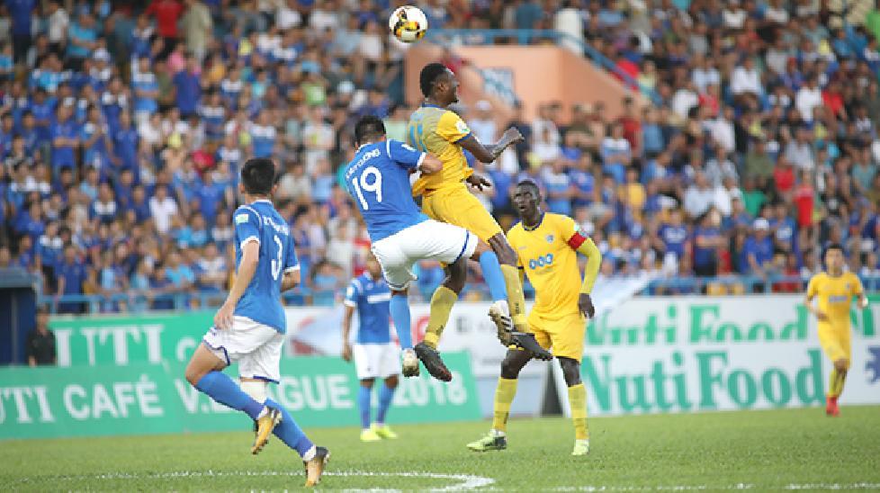 Vòng 8 V-League 2018: Than QN thảm bại ngay trên sân nhà