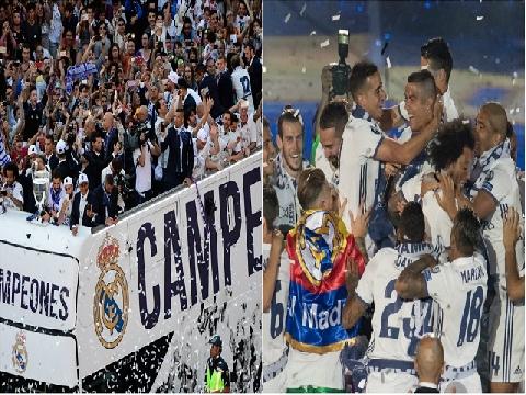Biển người chào đón Real mừng chức vô địch Champions League