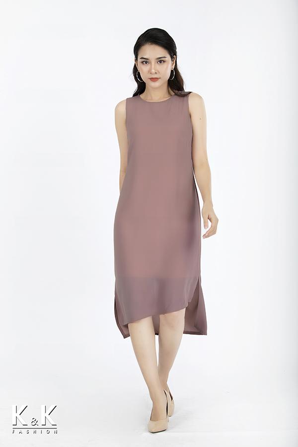 Đầm suông tà xéo điệu đà KK73-39, giá 430.000 đồng.