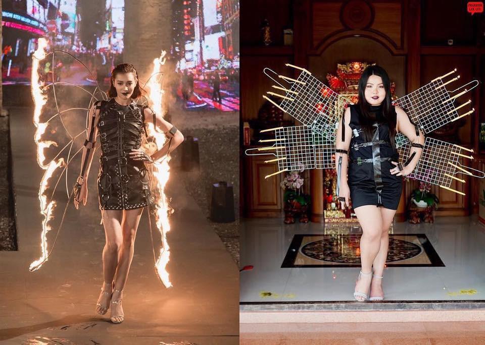 Cosplay hàng hiệu thời trang bằng cách tự làm váy áo bằng đồ ăn, cô bạn Thái Lan tự tin chặt chém mọi nhân vật đình đám - Ảnh 9.