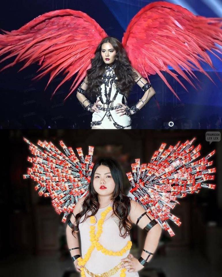 Cosplay hàng hiệu thời trang bằng cách tự làm váy áo bằng đồ ăn, cô bạn Thái Lan tự tin chặt chém mọi nhân vật đình đám - Ảnh 16.