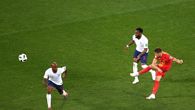 Januzaj là điểm sáng lớn nhất trong trận đấu giữa Anh và Bỉ với cú cứa lòng đẹp mắt tung lưới Pickford. Ảnh: FIFA.
