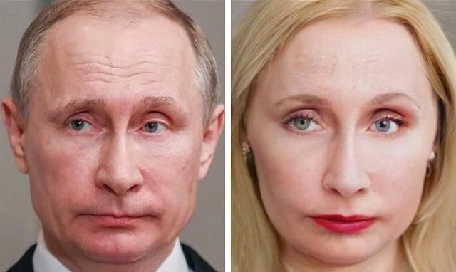 Vladimir Putin trở thành người... đàn bà lạnh lùng Vlada Putina